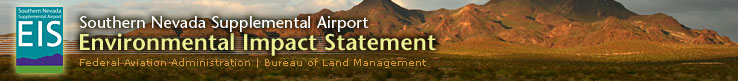 Southern Nevada Supplemental Airport Environmental Impact Statement Website